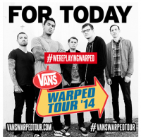 For Today to Play Vans' Warped Tour