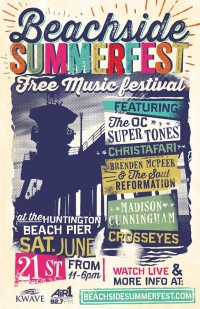 Beachside Summerfest Free Show on June 21st With The OC Supertones, Christafari, and more