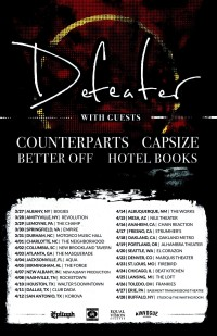 Hotel Books to Tour with Defeater, Counterparts, Capsize and Better Off