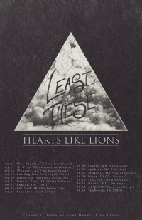 Least of These Sets Tour Plans with Hearts Like Lions
